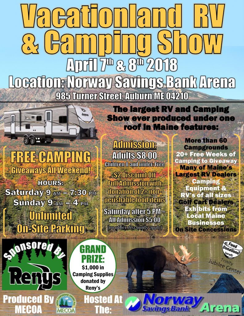 Vacationland Rv Amp Camping Show Campmaine